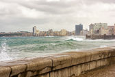Tropical storm in Havana — Stock Photo