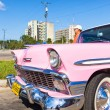 Vintage car in the Revolution Square in Havana — Stock Photo
