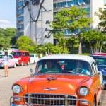 Vintage car in the Revolution Square in Havana — Stock Photo #35925745
