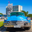 Classic Buick in the Revolution Square in Havana — Stock Photo #35925749