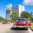 Old Chevrolet in the Revolution Square in Havana — Stock Photo