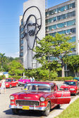 Classic Chevrolet in the Revolution Square in CUba — Stock Photo
