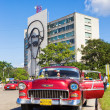 Stock Photo: Old Chevrolet in the Revolution Square in Havana