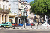 Old american cars in Havana — Stock Photo