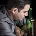 ������, ������: ��� Grunge image of a drunk sad hispanic man