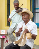 Street band playing traditional music in Havana — Stock Photo