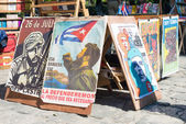 Revolutionary posters for sale in Havana — Stock Photo