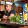 Stock Photo: Mojitos at LBodeguitdel Medio in Havana