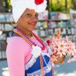Young woman dressed with typical clothes in Havana — Stock Photo