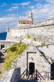 The fortress and lighthouse of El Morro in Havana — Stock Photo