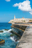 The castle of El Morro in Havana — Stock Photo