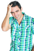 Man suffering a strong headache — Stock Photo
