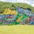 Paintings at the Prehistory Mural in Vinales , Cuba — Stock Photo #45159933