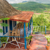 Colorful rustic wooden house at the Vinales Valley in Cuba — Stock Photo
