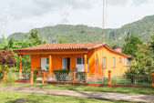 Colorful house at theVinales valley in Cuba — Stock Photo