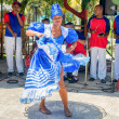 Afrocuban dancer and traditional music group — Stock Photo #45680259
