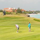 Concurrents jouant au varadero golf club — Photo