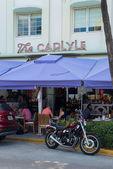 Art Deco architecture at Ocean Drive in South Beach, Miami — Stock Photo