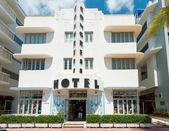 海でアールデコ建築ドライブ サウス ビーチ マイアミ — ストック写真