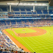 Fans watching a baseball game at the Miami Marlins Stadium — Stock Photo #47331909