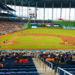 fans de regarder un match de baseball au stade miami marlins — Photo #47331923