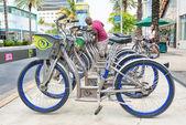 Bicicletas en alquiler en miami beach — Foto de Stock