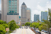 Urban view of downtown Miami — Stock Photo