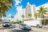 Famous art deco hotels in Miami Beach — Stock Photo