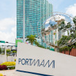 Sign at the entrance of the Port of Miami — Stock Photo #48380751