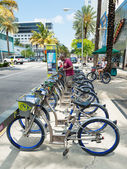 Bicycles for rent in Miami Beach — Stock Photo