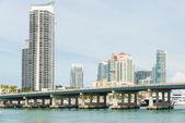Skyscrapers in Miami Beach — Stock Photo