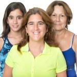 Three generations in a family of hispanic women — Stock Photo