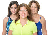 Three generations in a family of hispanic women — Foto Stock