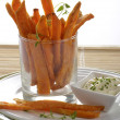 Foto Stock: Sweet potato fries