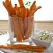 图库照片: Sweet potato fries