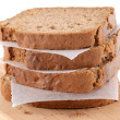 Slices of banana bread — Stock Photo