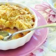 Rhubarb crumble — Stock Photo
