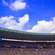 Stock Photo: BERLIN-GERMANY-APRI L 4: Berlin's Olympic Stadium (Olympiastadion) on April 4, 2009, Berlin Germany. It was originally built for the 1936 Summer Olympics in the southern part of the Reichssportfeld.