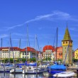 Bodensee lakeside, Lindau, Germany — Stock Photo #17633621