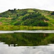 Lake Bunyonyi in Uganda, Africa — Stock Photo