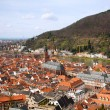Old town of Heidelberg and the church, Baden Wuerttemberg, Germany — Stock Photo