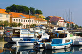 Mediterranean town on the shore of the sea, the Adriatic Sea in Croatia. — Stock Photo