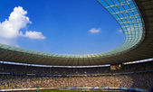 BERLIN-GERMANY-APRI L 4: Berlin's Olympic Stadium (Olympiastadion) on April 4, 2009, Berlin Germany. It was originally built for the 1936 Summer Olympics in the southern part of the Reichssportfeld. — Foto de Stock