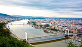 View of Budapest and the river Danube from the Citadella, Hungary — Stock Photo