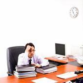 Giovane avvocato che lavora nel suo ufficio — Foto Stock