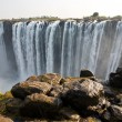 VictoriFalls at border of Zimbabwe and Zambia — Stock Photo #17646107