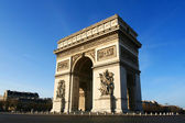Beautiful view of the Arc de Triomphe, Paris — Stock Photo
