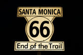 Route 66 end of the Trail sign in the city of Santa Monica. — Stock Photo