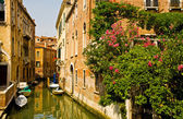 Romantic canal in Venice. — Stock Photo
