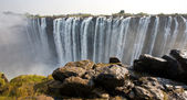 The Victoria Falls at the border of Zimbabwe and Zambia — Stock Photo